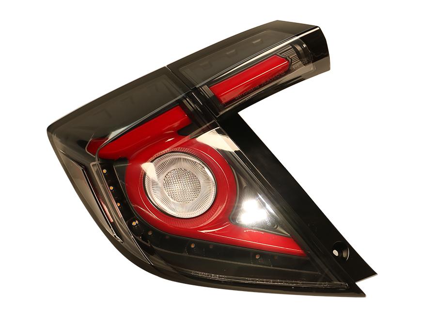 灯底黑_思域 16- LED尾灯 五门款 黑底 红色光板 跑马转向灯 - 秀山车灯/增 ...